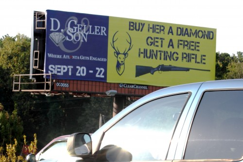 Buy her a diamond - get a free hunting rifle