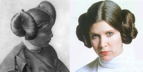Two peas in a pod: princess Leia and a Hopi girl